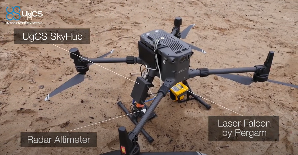 UgCS SkyHub and Methane Sensor